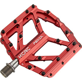 KCNC Pedia 2 Slim Plattformpedale für MTB/BMX red